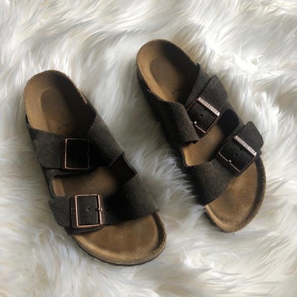 0425553fdb19 Birkenstock Shoes - Birkenstock Arizona Suede Leather Mocha Size 37